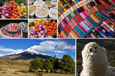 Marché et paysage andin — Stock Photo