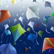Stock Photo: Kites on blue background