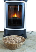 Stove and flame — Stock Photo