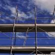 Metal scaffolding - Stock Photo