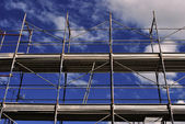 Metal scaffolding — Stock Photo