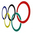 Olympic symbol — Stock Photo