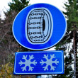 Foto Stock: Sign danger of snow