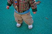 孩子的腿 — 图库照片