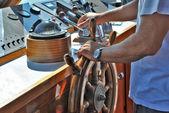 Steering compass — Stock Photo