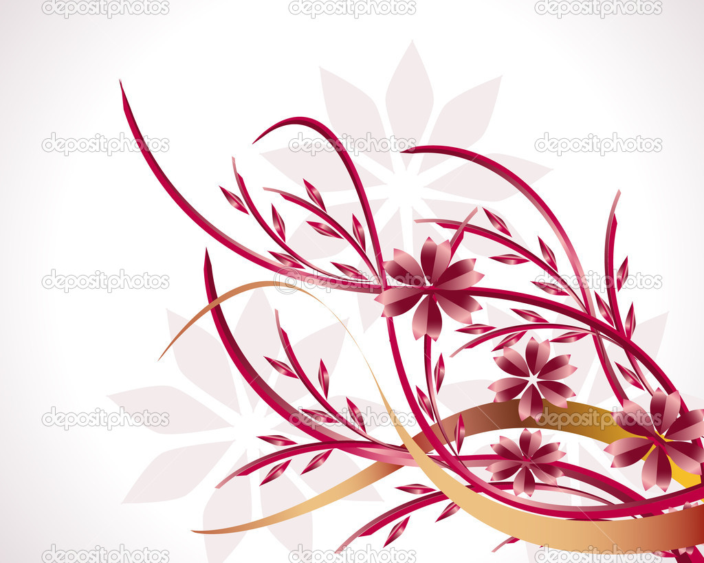 Festive red flowers in the background — Stock Vector #3997952