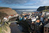 View Of The Charming Fishing Village Of Staithes, North Yorkshire, UK — Stock Photo