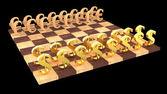 3D chess — Stock Photo
