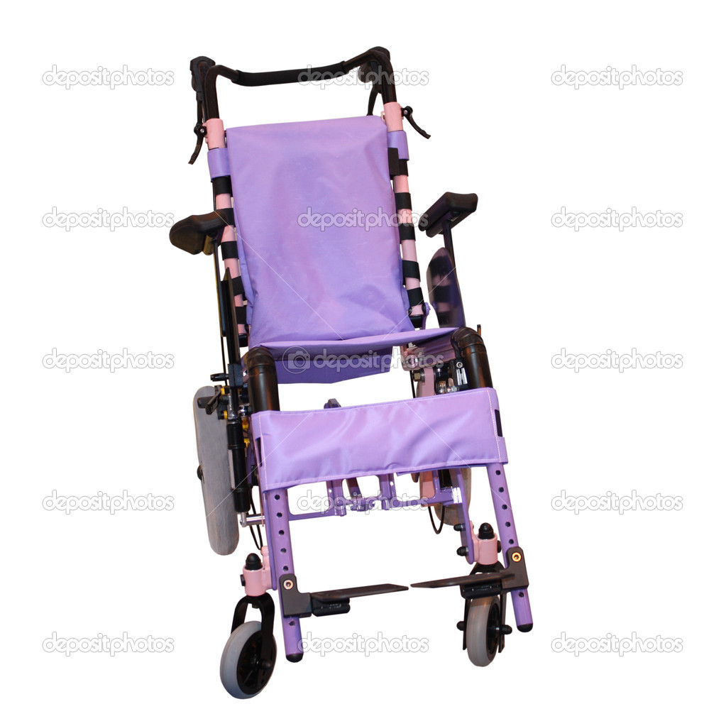 A Purple Coloured Wheelchair for a Disabled Person. — Stock Photo #5202378