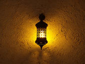 The lamp decorated in oriental style — Stock Photo