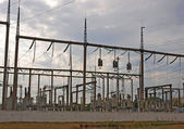 Electric power station and cloudy sky — Stock Photo