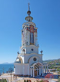 Saint Nikolas church and also a lighthouse, Crimea — Stock Photo