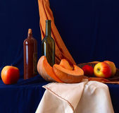 Still life on a dark blue background — Stock Photo