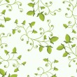 Stock Vector: Seamless green floral pattern