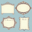 Collection Of Vintage Frames — Stock Vector #4722378