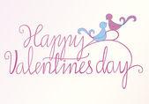 Happy Valentine birds — Stock Vector