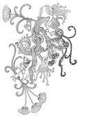Fantasy doodle — Stock Vector