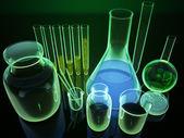 3 d 化学フラスコ — ストック写真