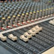 Used studio mixer - Stock Photo