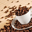 Stock Photo: Cup of coffee beans 2