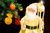 Golden Santa Claus — Stock Photo