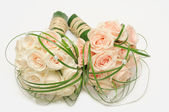 Rose bouquet on white — Stock Photo