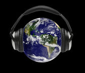 The world is listening — Stock Photo