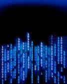 Binary code data flowing — Stock Photo