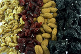 Row of dry fruits — Stock Photo