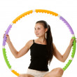Stock Photo: Fitness Girl With Plastic Hoop