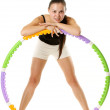 Sporty Girl and Hula Hoop — Stock Photo