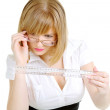 Royalty-Free Stock Photo: Serious Businesswoman With A Ruler
