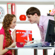 Celebrating Valentine's Day In Office — Stok Fotoğraf #5049325