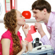 Stock Photo: Office Romance