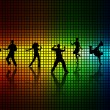 Dance a disco. - Stockvectorbeeld