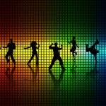 Dance a disco. — Stock Vector #5319526