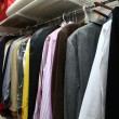 Male wardrobe — Stock Photo