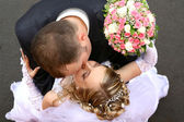 Wedding kiss — Photo