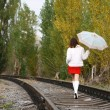 Leaving woman — Stock Photo