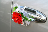 Wedding car decoration — Stock Photo