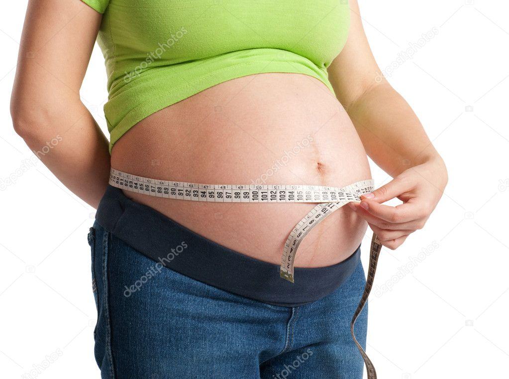 Фото беременной с лентой на животе 20