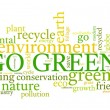 Go Green! — Stockvectorbeeld