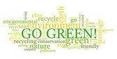 Go Green! — Stock Vector