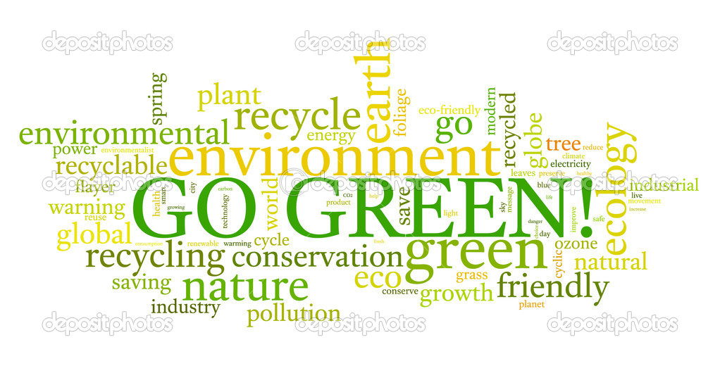 Go Green. Words cloud about environmental conservation  Stock Vector #4518778