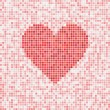 Heart vector mosaic — Stock Vector