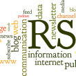 Stock Vector: Rss Feed Word Cloud