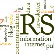 Rss Feed Word Cloud — Stockvectorbeeld