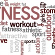 Word cloud &quot;Fitness&quot; - Stok Vektr