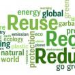 riutilizzare, ridurre, riciclare — Vettoriale Stock