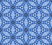 Vektor-nahtlose mosaik-ornamente — Stockvektor